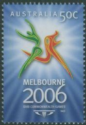 AUS SG2575 50c Commonwealth Games, Melbourne (1st issue)